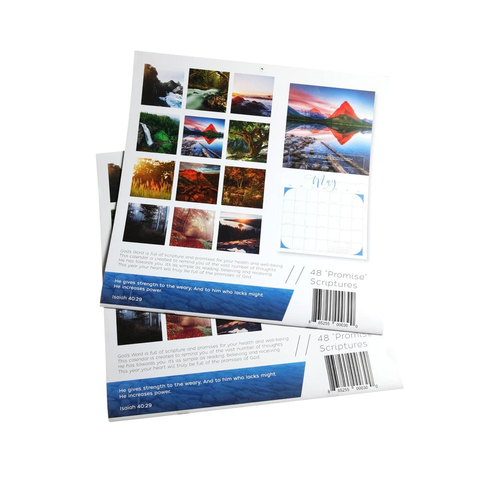 Хит продаж 2019, настенный календарь, индивидуальная Цветовая печать, календарь, услуги