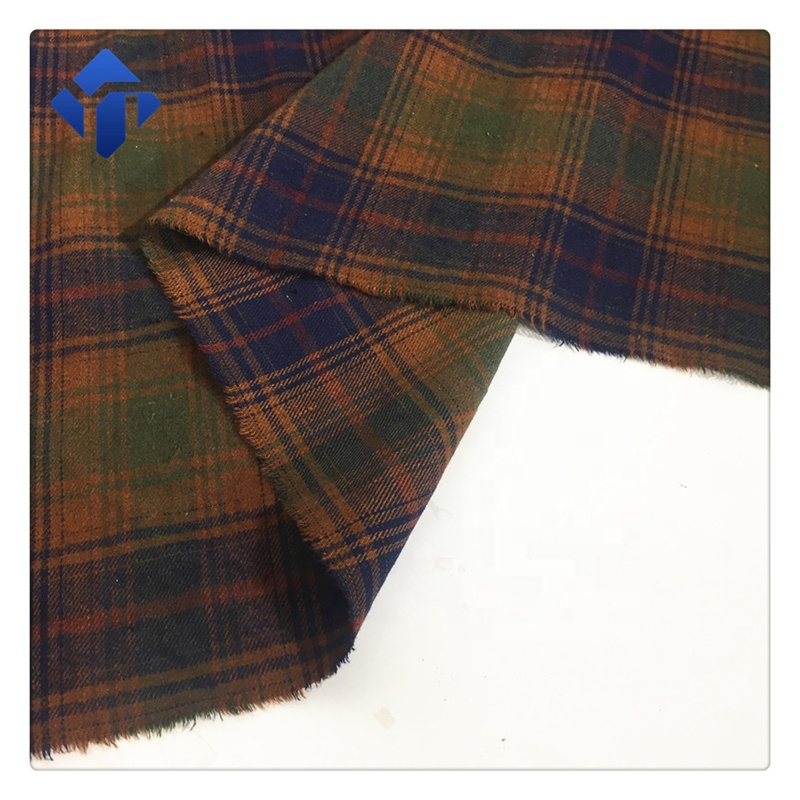 Базовая хлопковая тканая клетчатая фланелевая Меланжевая ткань для костюма