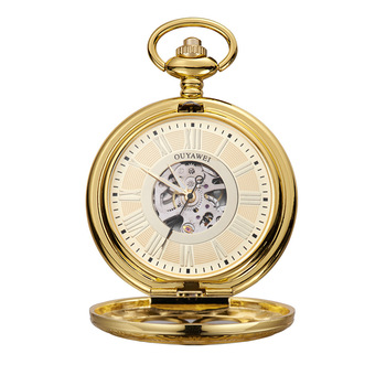 PM7010 Original factory supply high end roman number dial hollow out mechanical antique pocket watch