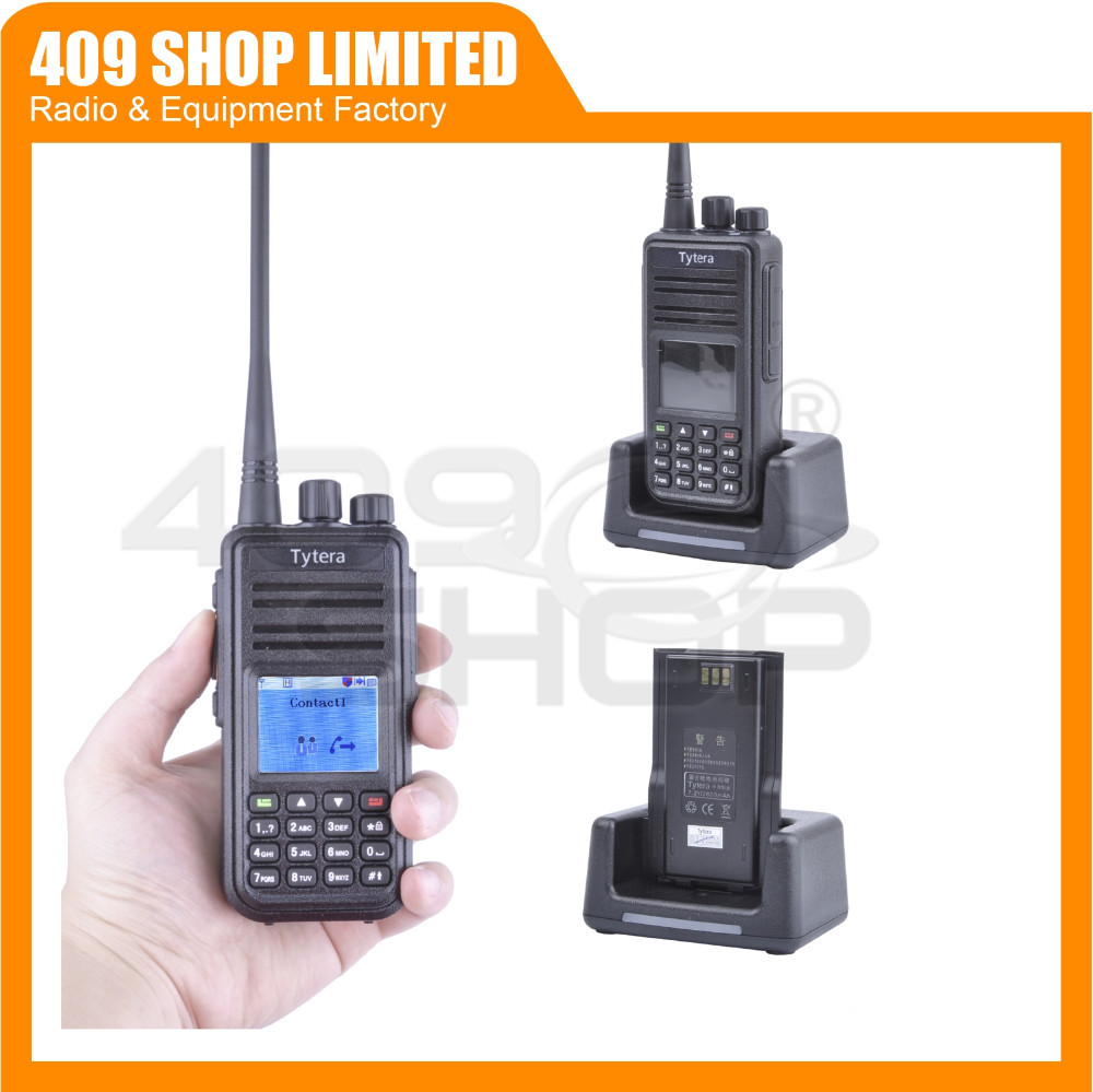 Tytera (TYT) Digital Mobile Radio 400-480MHz MD-380 Radio + MD380 Programming Cable + Speaker Microphone for MD-380