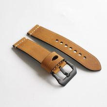 Из натуральной яловой кожи 24 26 мм ручной работы ремешок для часов для мужчин женщин Cartier tissot браслет аксессуары(Китай)