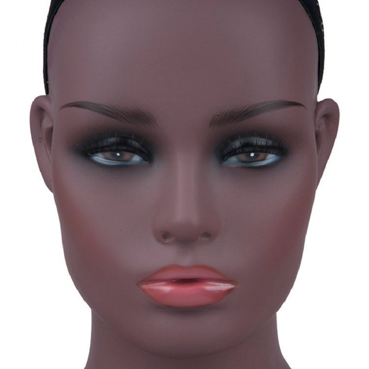 Cheaper Professional Salon Wig Display Stand Training Wig Mannequin Head with Wig Women PVC