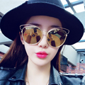 Hot Brand Golden Metal Frame AC Coating Lens Women Cat Eye Sunglasses 2016 Fashion Retro Shades