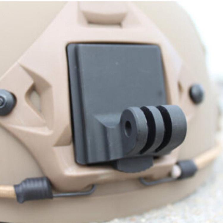 Gopro Шлем Алюминий с Фиксированным Креплением для Камеры Gopro HD HERO 4 3 3 2 + 1 SJ4000 SJ5000 SJ6000 GoPro NVG Mount Base