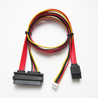 Factory Custom Sata 22Pin Female To Sata 7Pin+4Pin HSG Power Cable