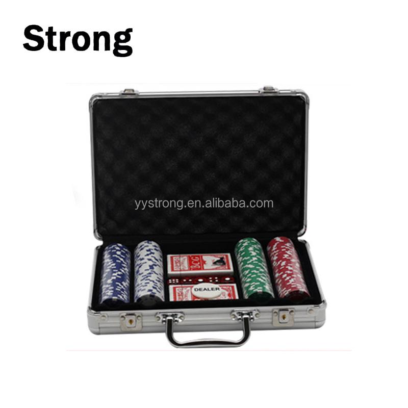 300pcs Custom logo plastic gambling poker chip set