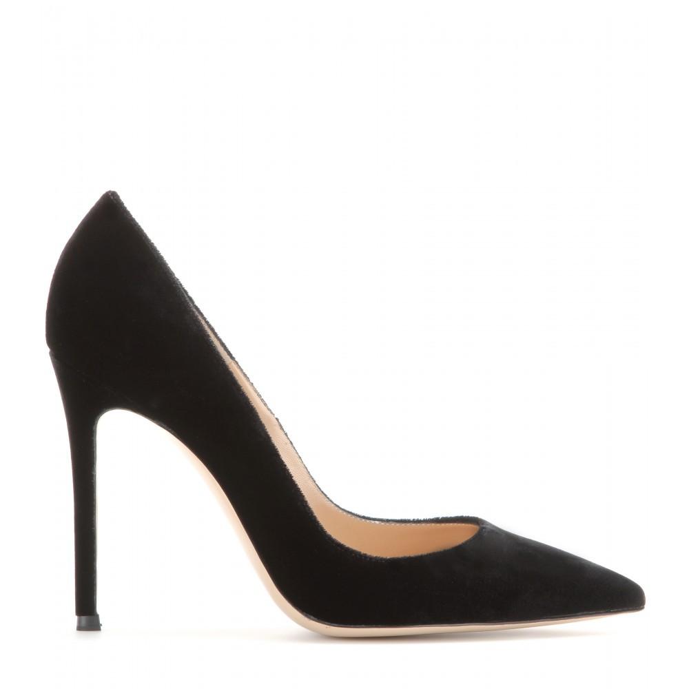 Simple Black High Heels Tsaa Heel