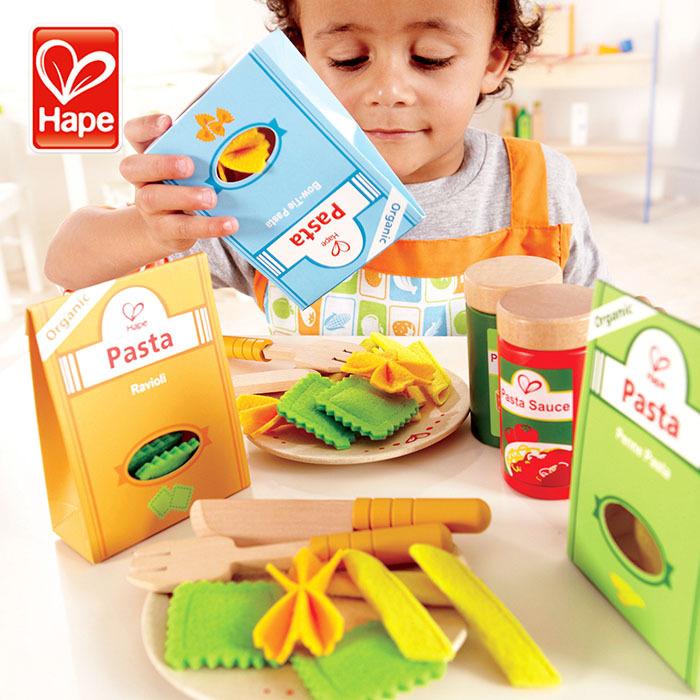 Детский игровой кухонный набор, Высококачественная деревянная паста от 2 до 4 лет ASTM