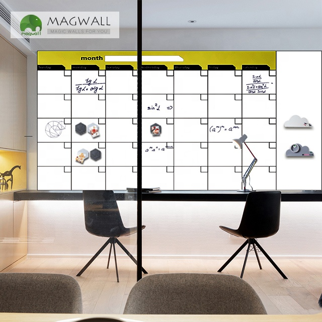 Magwall double-layer self-adhesive weekly planner white board sheet notice board writable magnet sheet whiteboard calendar - Yola WhiteBoard | szyola.net