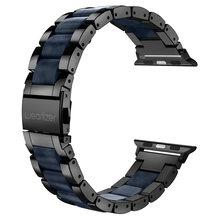 Wearlizer Роскошный металлический ремешок из нержавеющей стали для Apple Watch Band 38 мм 42 мм соединяющий ремешок браслета для iwatch Series 5 4 3 2 1(Китай)