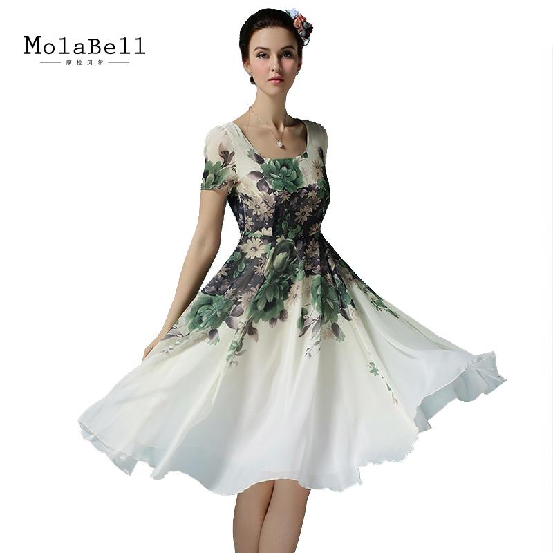 MolaBell Summer Style Women Print Elegant Vintage Short