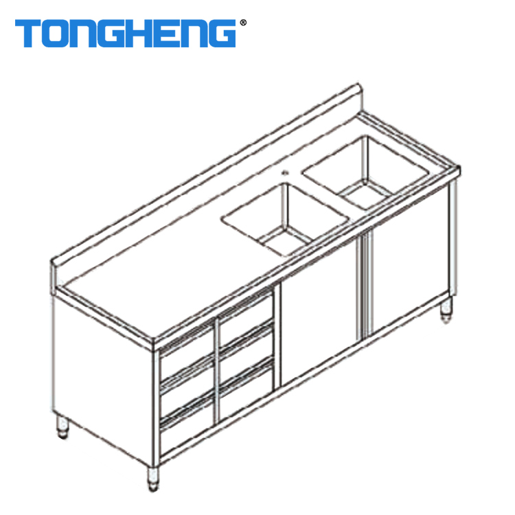Commercial Restaurant Used Stainless Steel Kitchen Cabinet With Bowl Sink View Stainless Steel Cabinet Tongheng Product Details From Foshan Tongheng Hotel Equipment Co Ltd On Alibaba Com