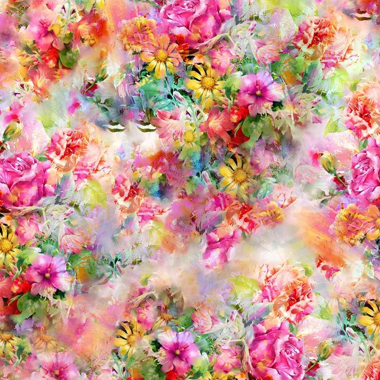 eco-friendly no moq shaoxing textile high quality custom digital print fabric floral digital print satin chiffon clothing fabric