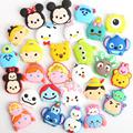 Wholsale 50pcs TSUM Mickey Minnie Elsa Anna cartoon Soft decoration accessories DIY Gadgets 20160106