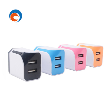 phone charger multi usb charger EU US fire proof material 2 Amp dual usb for most digital products wall charger