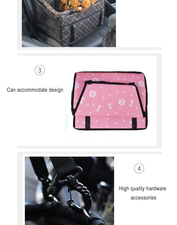 ee0ad80f4 Dual Layer Thickened Pet Dog Car Carrier Mat Mesh Bag, Breathable  Waterproof Printing Travel Car Pad Hanging Bag Black/M