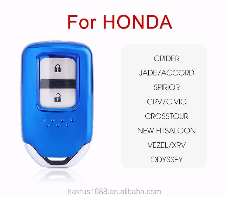 Для Honda кридер JADE Accord Spirior CRV CIVIC Crosstour Новый fitsaloon VEZEL XRV ключа автомобиля чехол TPU защитную крышку Carkey оболочки