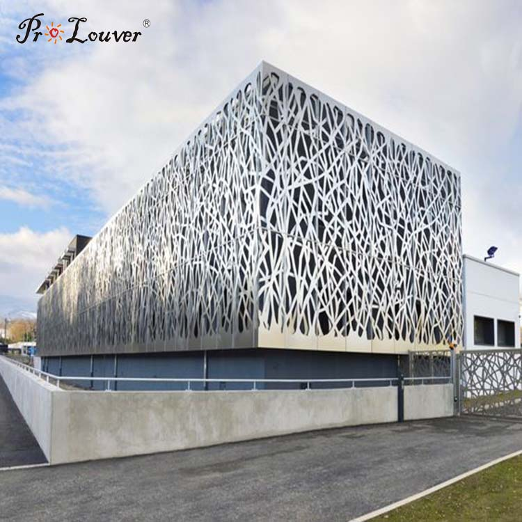 Factory custom aluminum Perforated Facade Panel for modern building