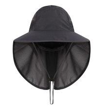 Уличная альпинистская шляпа, солнцезащитные наушники для шеи подбородка, двойные сетчатые шапки, дышащая водонепроницаемая шляпа рыбака(Китай)