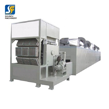 Double rotary Paper egg plate machine egg tray carton making production line