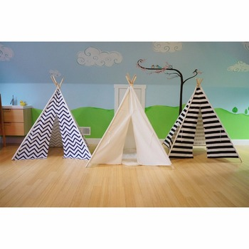 Vintage parts Kids Tent Teepee Play Indoor Children Outdoor Playhouse Indian Canvas House Hut