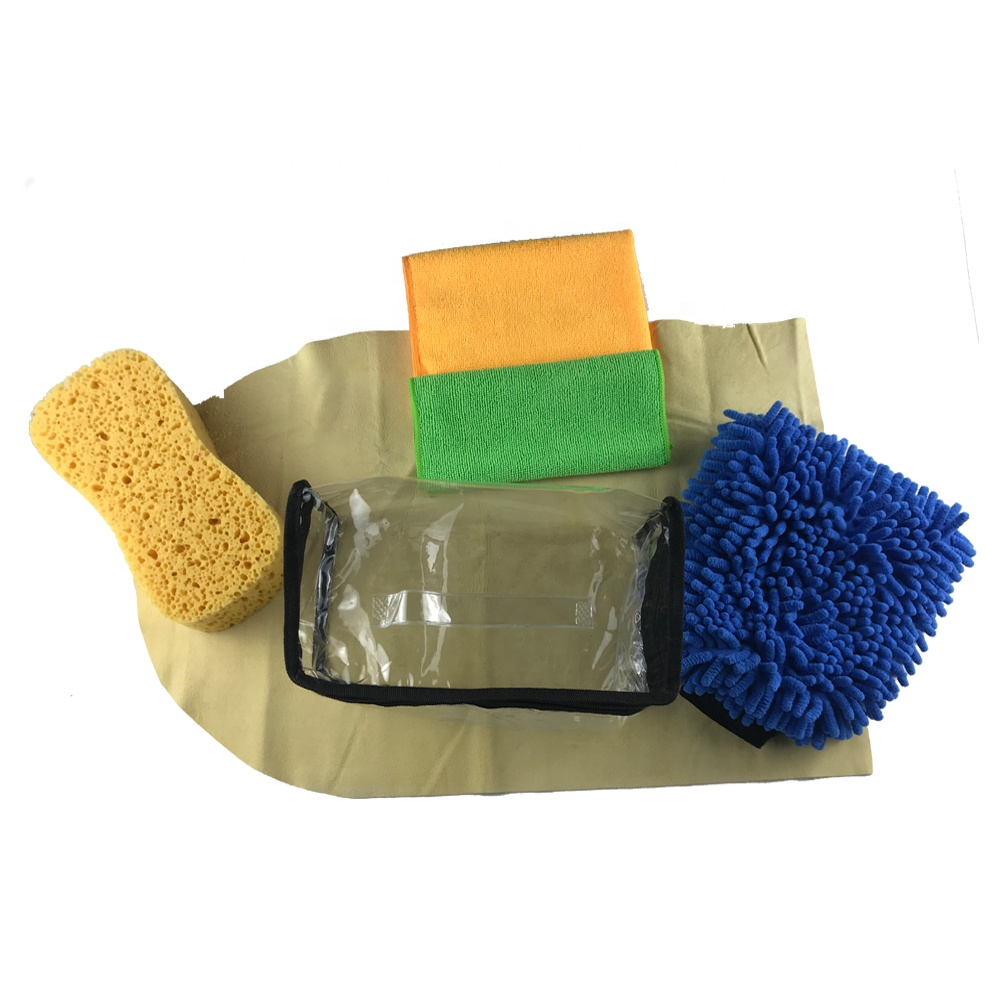 Water Magnetic Micro Towel Double Sided Chenille Washing Glove Car Care Set