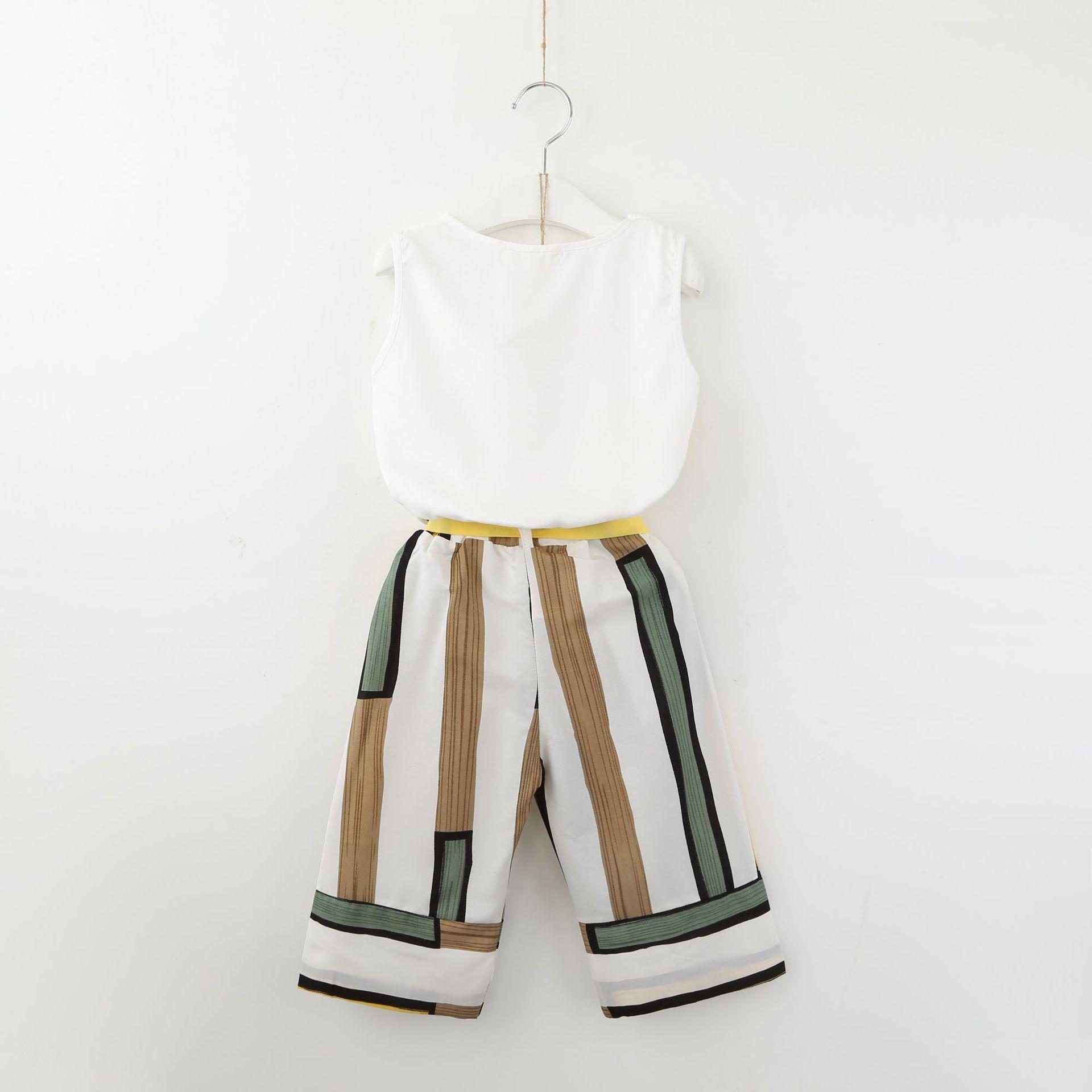 B21989A, оптовая продажа, детская одежда, летние комплекты одежды для маленьких девочек