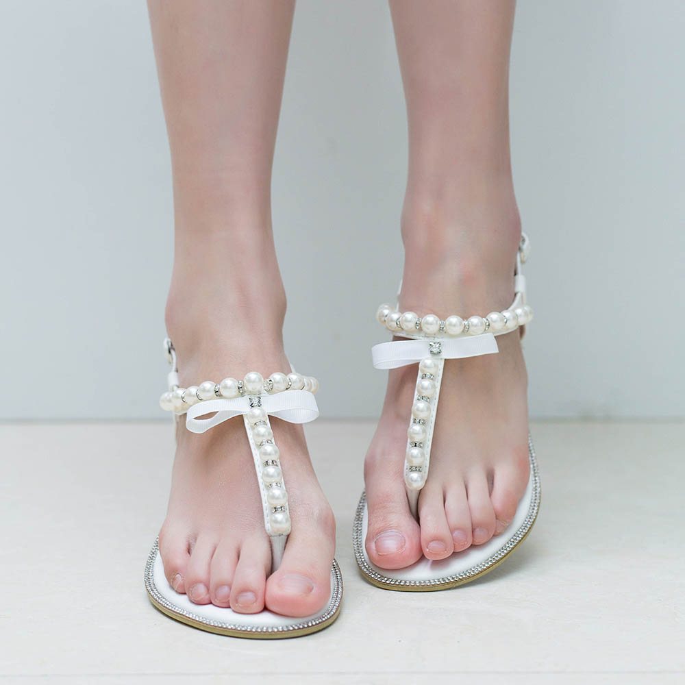 Shoes With Pearls On The Heels