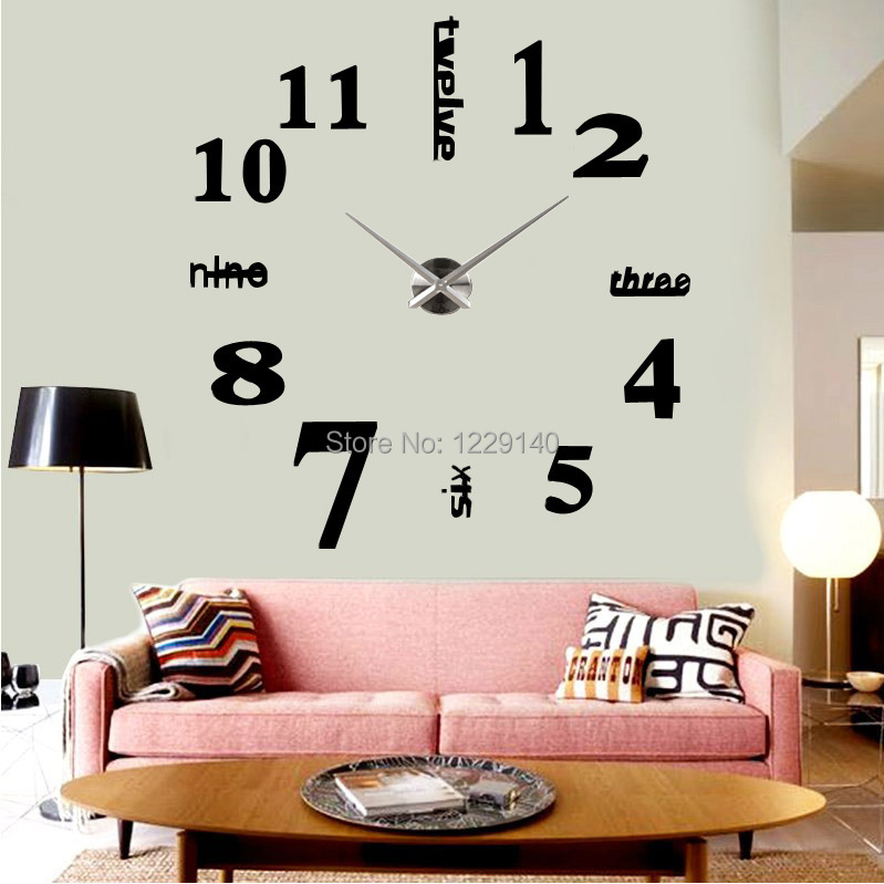 grosse horloge murale design latest horloge pendule cm grande horloge murale en mtal de style. Black Bedroom Furniture Sets. Home Design Ideas