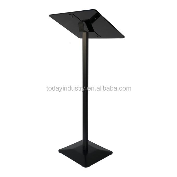 Wholesale modern metal church podium black lecterns