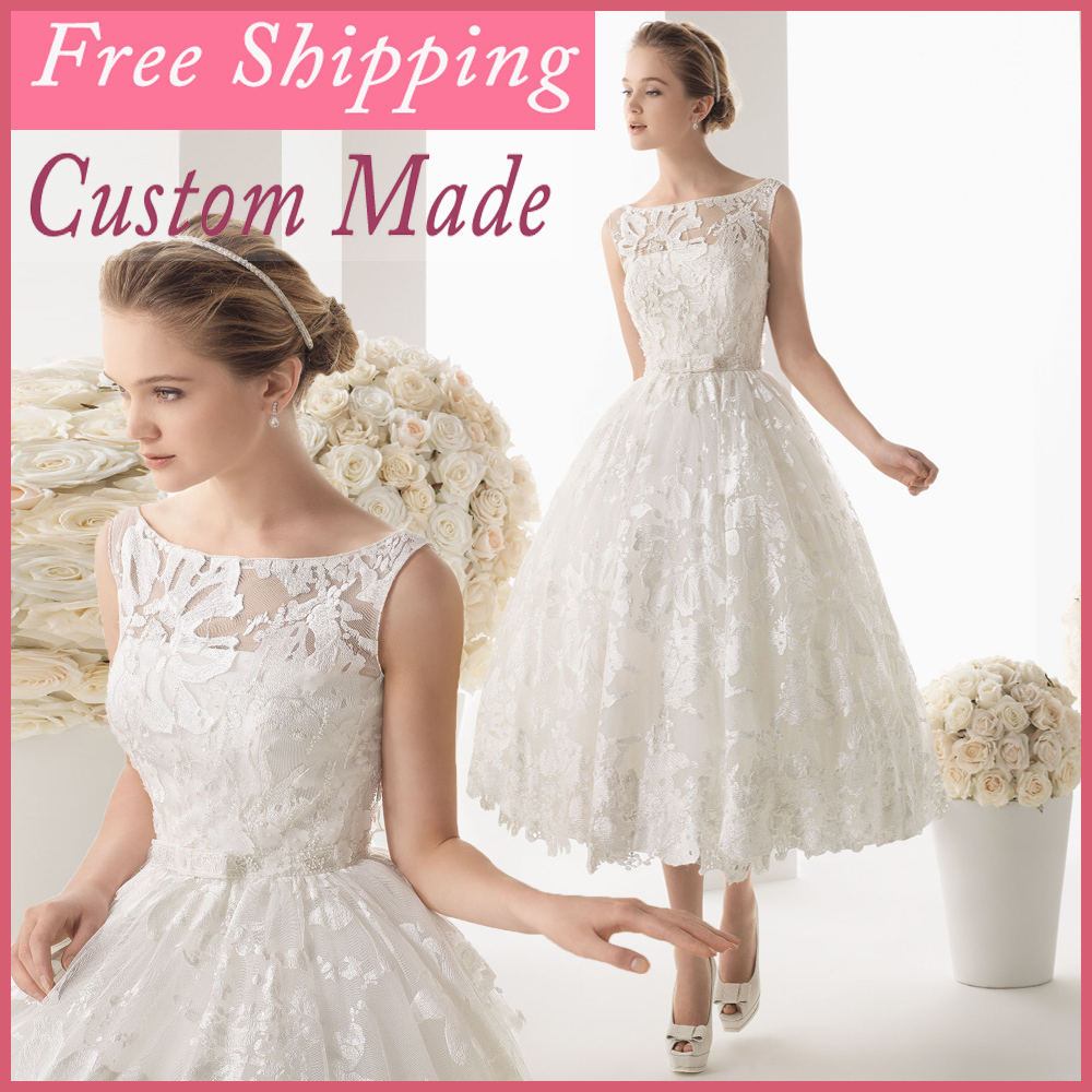 Aliexpress Com Buy Simple Elegant See Through Lace Part: 2014 White Lace And See Through Short Wedding Dress Beaded