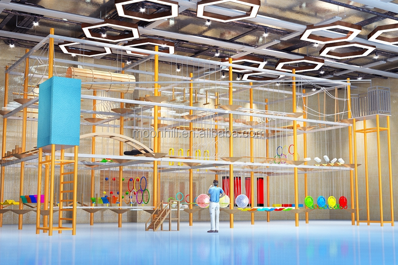 11 years experience Outdoor theme park rope obstacle course manufacturer