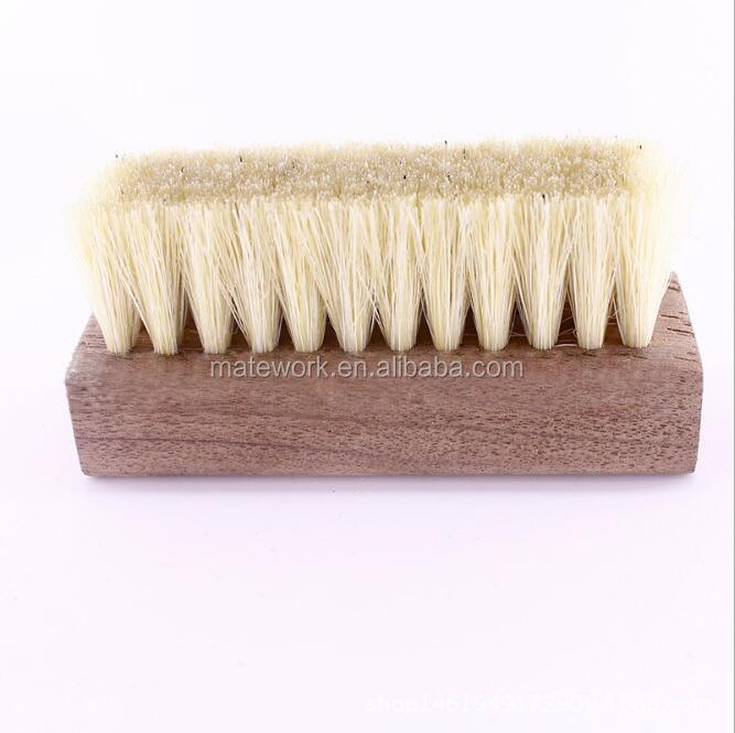 shoe brush walnut wooden brush cleaning natrual pig hair shoe polish brush