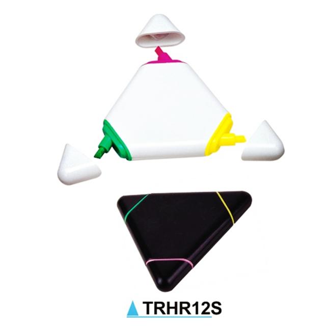 3 x TRI COLOUR TRIANGULAR HIGH LIGHTER PENS