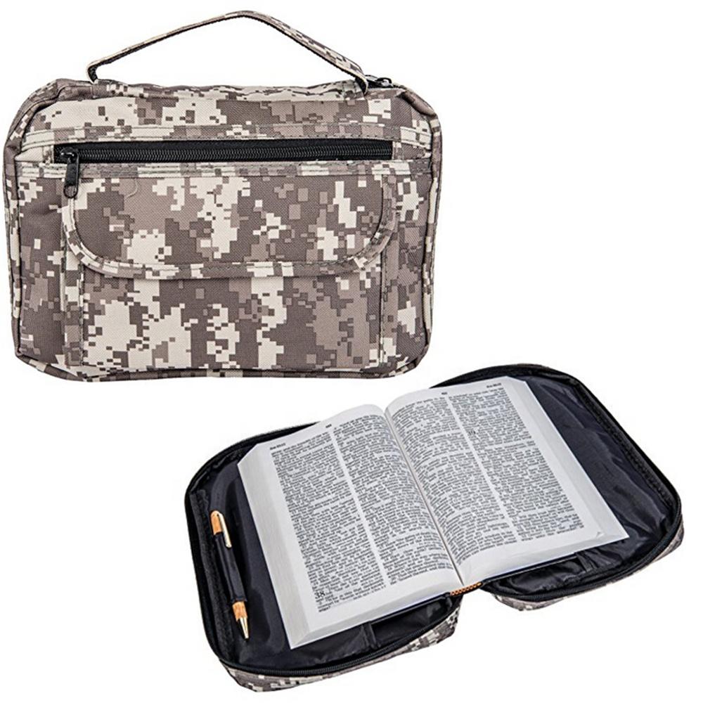 Manufacturer Wholesale Custom Zipper Digital Camo Bible Covers