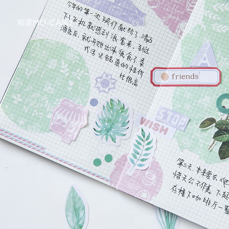 45 Pcs/lot Creative Cute Leaves Mini Paper Sticker Decoration DIY Diary Scrapbooking Box Label Paper Sticker