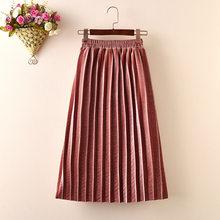 Длинная Вельветовая юбка для маленьких девочек 2 - 10 лет, простая плиссированная детская юбка, новинка 2019, детская одежда на весну, осень, зим...(Китай)