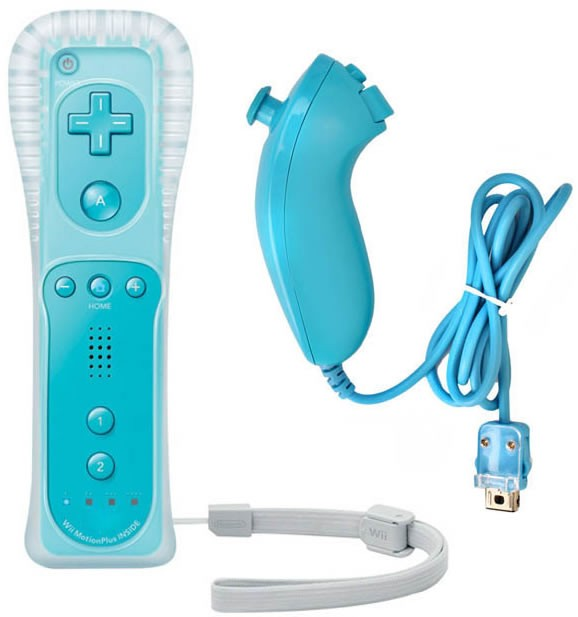 Remote and Nunchuk Controller Combo Built in MOTION PLUS