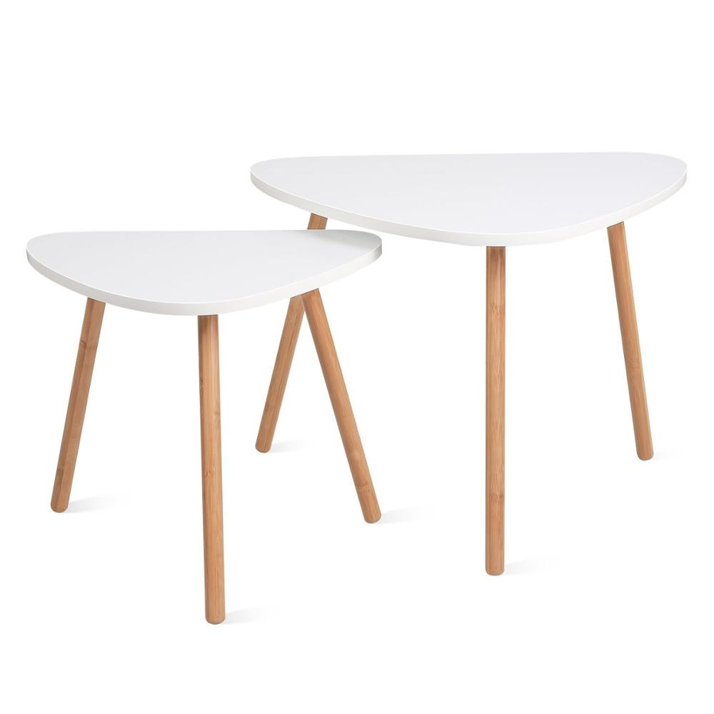 Wood Nesting Coffee End Tables Set Of 2 Modern Decor Side Table For Home And Office Bamboo Buy Nest Table End Table Side Table Product On Alibaba Com