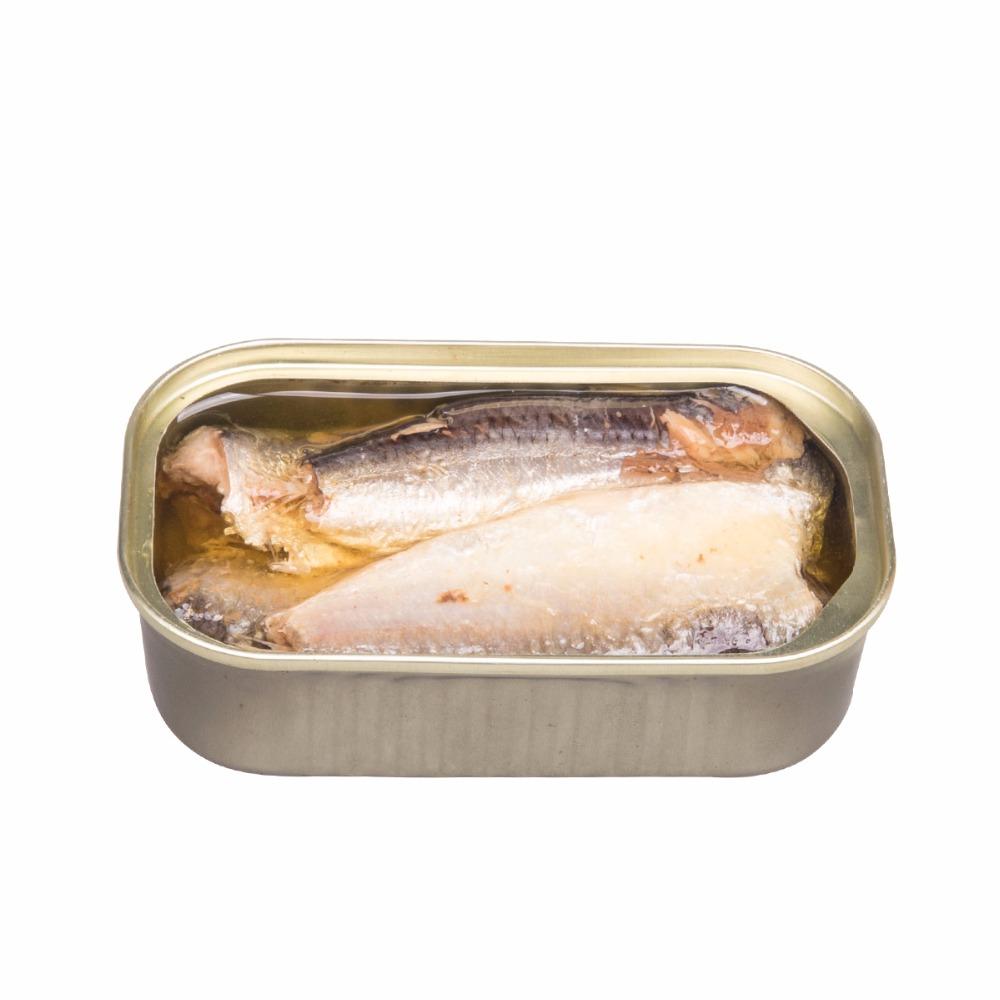 Недорогая консервированная рыба-сардина в растительном масле от производителя
