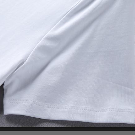 Оптовая продажа, однотонная белая футболка из 100% хлопка с принтом на заказ для мужчин