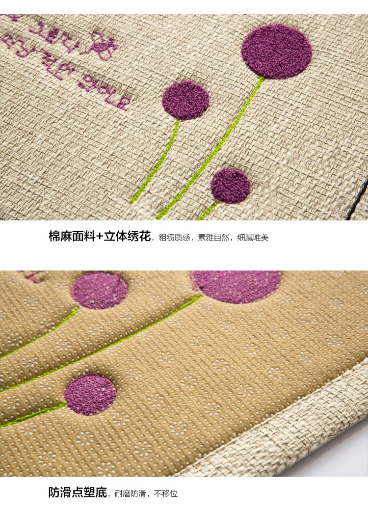 Product Details Embroidery cotton thickening washable mats doormat living  room bedroom den skid pad - us180 cb88eb9c289