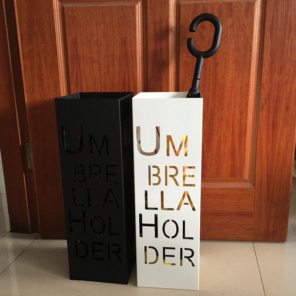 Творческий винтаж металлического железа ремесло искусство алфавит зонтик стенд держатель стойки хранения ведро черный белый баррель главная лобби отеля