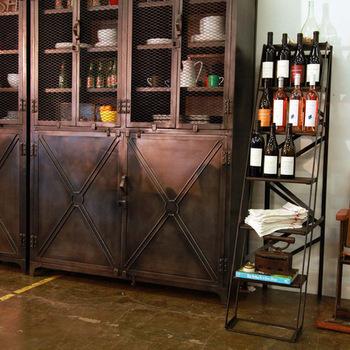 loft de pays d 39 am rique industrielle fer cuisine armoires de rangement casiers buffet meuble de. Black Bedroom Furniture Sets. Home Design Ideas