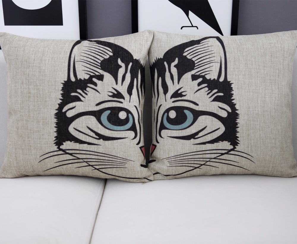 Creative cartoon CAT pillow ,CAT cushion ,Linen pillowcase,home decor sofa cushion,decorative Pillows