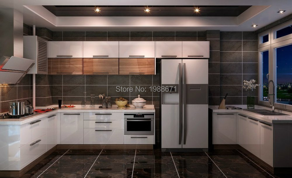 Gloss Finish Kitchen Cabinet Doors
