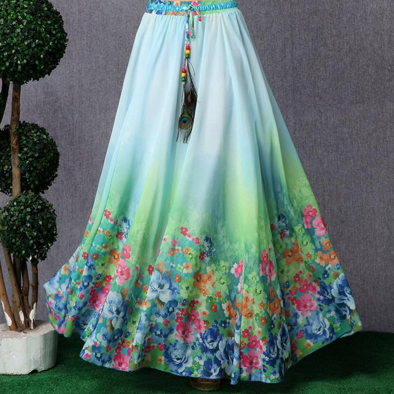 Online Get Cheap Long Flowy Skirt Aliexpress Com