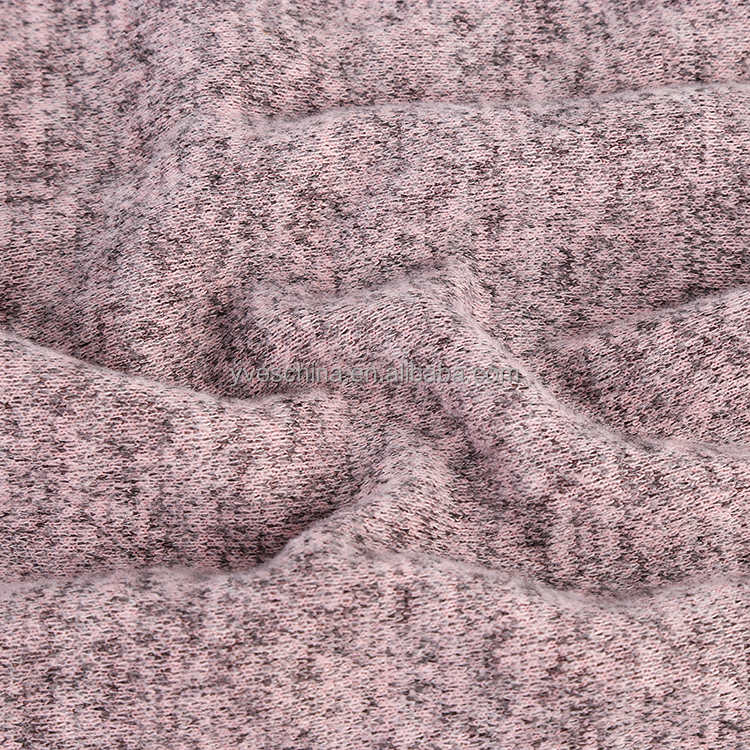 Customized poly rayon sapndex Polar fleece brushed double knitted fabric