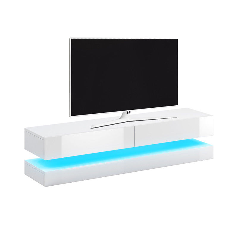 Living Room 140cm LED Floating 2 Drawer TV Stand Cabinet Unit Furniture.