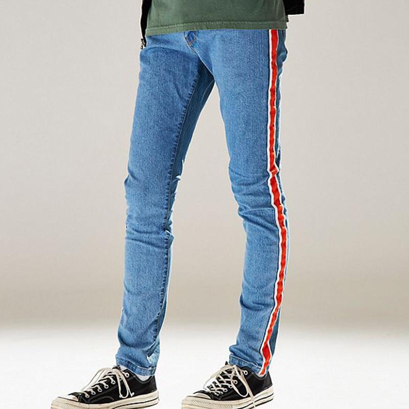Pantalones Largos Ajustados Para Hombre Vaqueros Personalizados Con Cinta Lateral Buy Jeans Ajustados Hechos A Medida Jeans Hechos A Medida Jeans Para Hombre Product On Alibaba Com